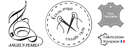 ngel's Pearls ® Cousu Main Avec Amour - Fabrication Artisanale Française - Cuir Véritable